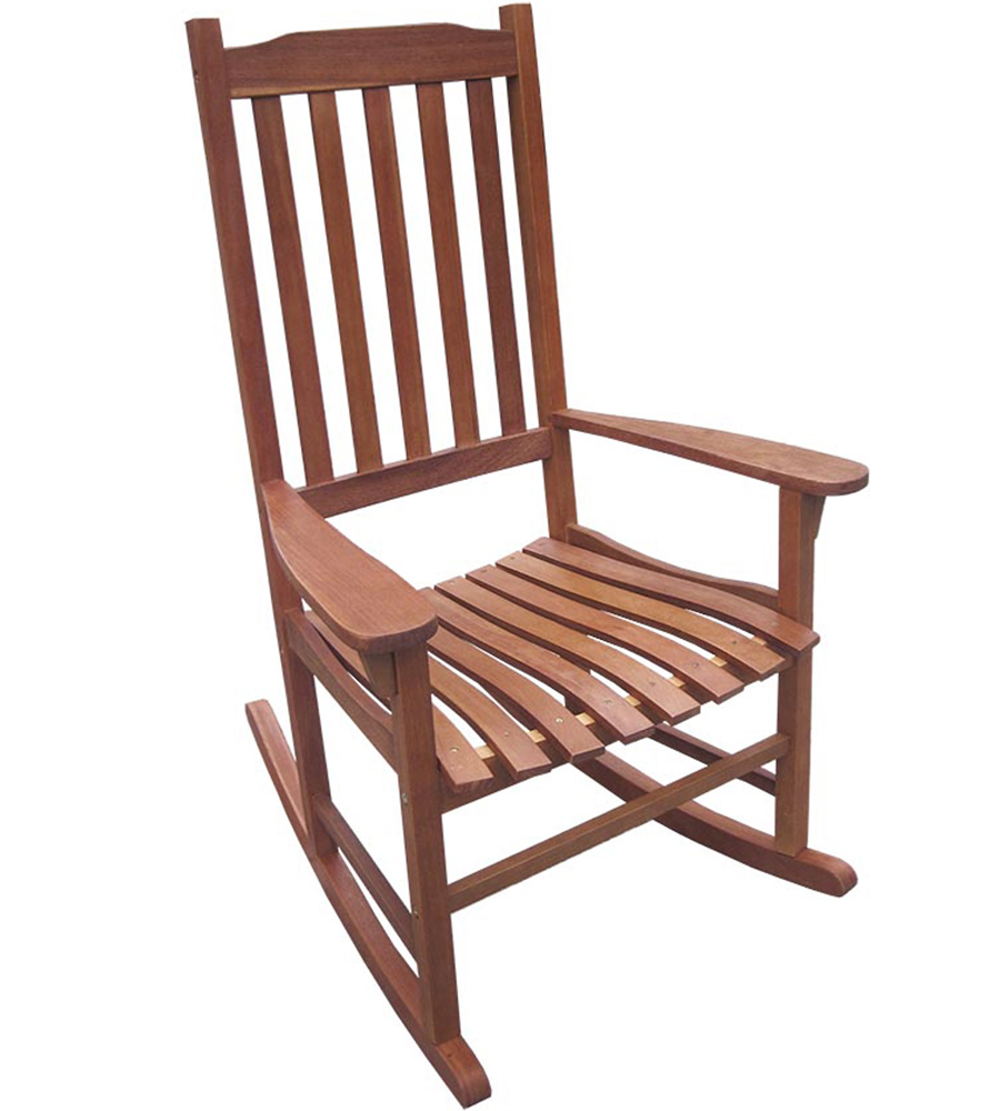 Wooden rocking chair in chairs