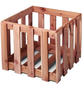 Wooden Storage Crate - Cedar Image