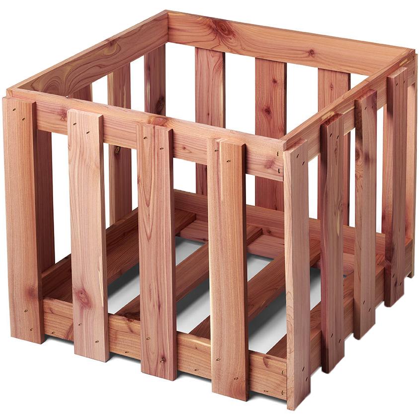 Wooden Storage Crate   Cedar Price: $21.99