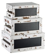 Wooden Storage Crates - Distressed