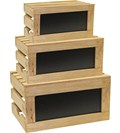 Wooden Storage Crates - Natural