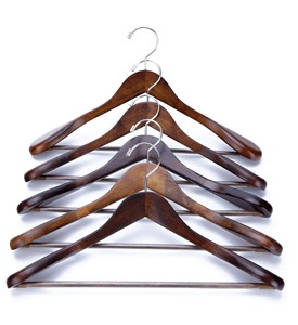 Wooden Suit Hangers - Extra Wide Shoulder (Set of 5) Image