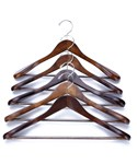 Wooden Suit Hangers - Extra Wide Shoulder
