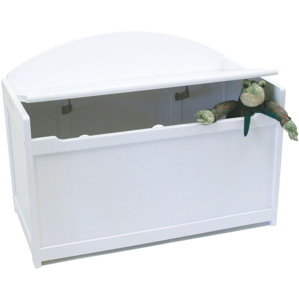 wooden toy chest white in toy storage. Black Bedroom Furniture Sets. Home Design Ideas