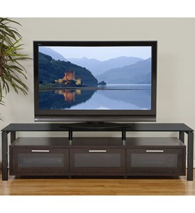 Wooden TV Entertainment Center Image
