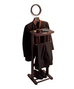 Wooden Valet Stand with Mirror