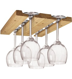 Wooden Wine Glass Rack Image