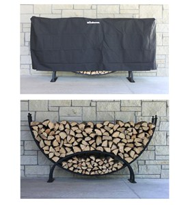 Woodhaven Crescent Firewood Rack Image