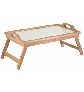 Wood Breakfast Serving Tray - Natural Image