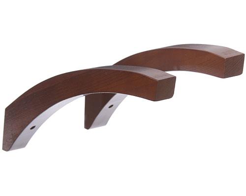 12 inch angled wood shelf brackets red mahogany set of. Black Bedroom Furniture Sets. Home Design Ideas