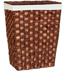 Woven Laundry Hamper with Lid - Espresso Image