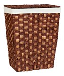 Woven Laundry Hamper with Lid - Espresso