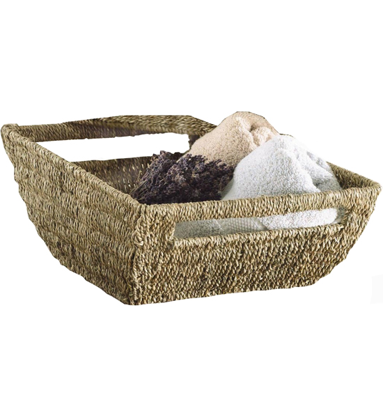 How To Make A Woven Grass Basket : Woven seagrass basket in wicker baskets