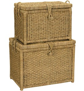 Woven Seagrass Storage Chest (Set of 2) Image
