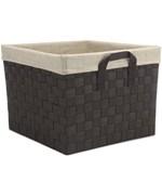 Closet storage bins and baskets - Fabric Storage Bin Woven Storage Basket
