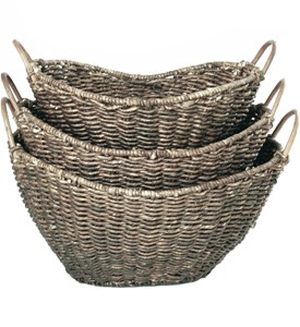 Woven Storage Baskets (Set of 3) Image
