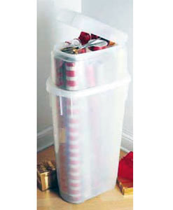 vertical wrapping paper holder in home decor