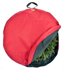 Wreath Storage Bag with Direct Suspend Handle Image