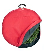 Wreath Storage Bag with Direct Suspend Handle