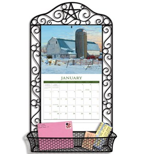 Wrought Iron Calendar Frame - Black Image
