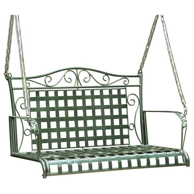 Wrought Iron Porch Swing   Lattice Image