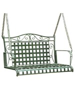 Wrought Iron Porch Swing - Lattice