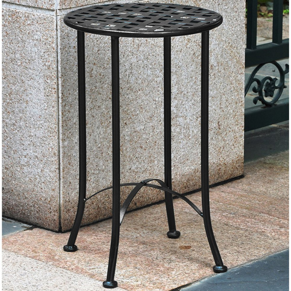 Wrought Iron Plant Table   Lattice Top Image