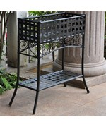 Wrought Iron Planter Box - Lattice Design
