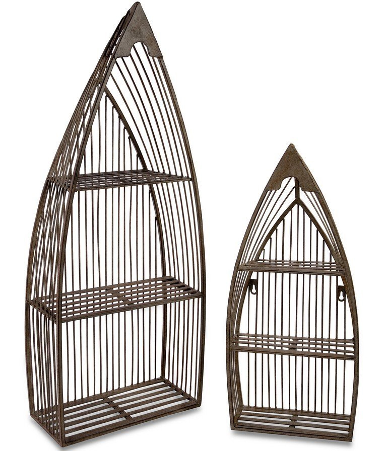wrought iron wall mount shelves price
