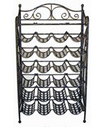 Wrought Iron Wine Rack - 24 Bottles