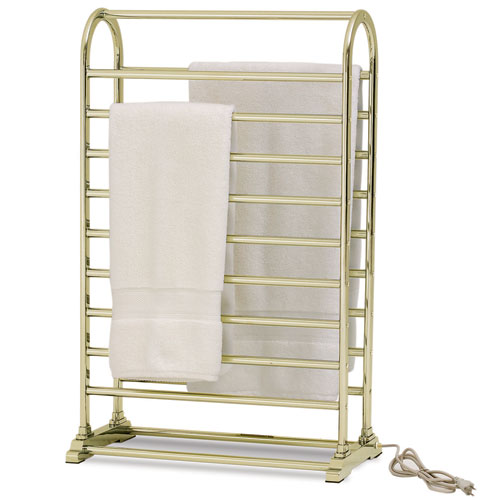 Deluxe Vauxhall Towel Warmer Polished Brass In Towel Warmers