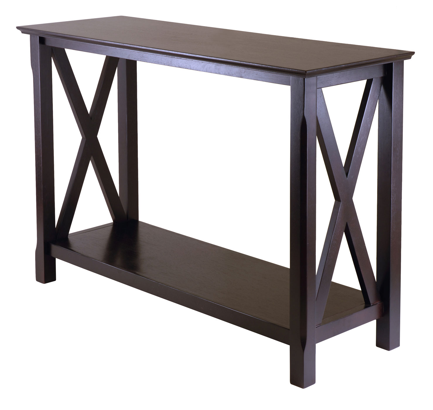 X cappuccino sofa table in accent tables for Sofa end tables
