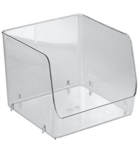 Stackable Clear Plastic Storage Bin - Extra Large Image
