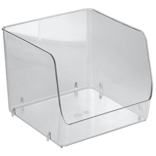 stackable clear plastic storage bin extra large