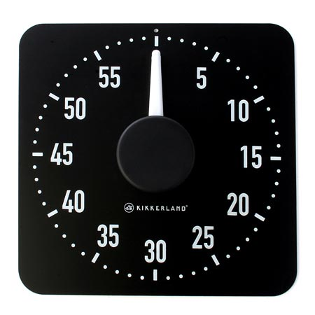 Jumbo Magnetic Kitchen Timer Black And White In Kitchen