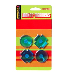 Tic Tac Toe Locker Magnets (Set of 4) Image