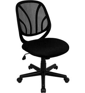 Y-GO Chair Mid-Back Mesh Computer Task Chair by Flash Furniture Image