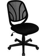 Y-GO Chair Mid-Back Mesh Computer Task Chair by Flash Furniture