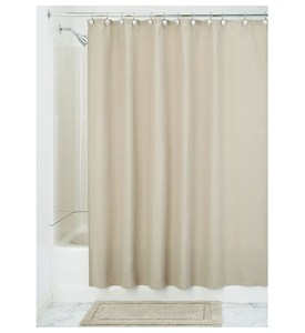 Fabric Shower Curtain - Linen - York Image