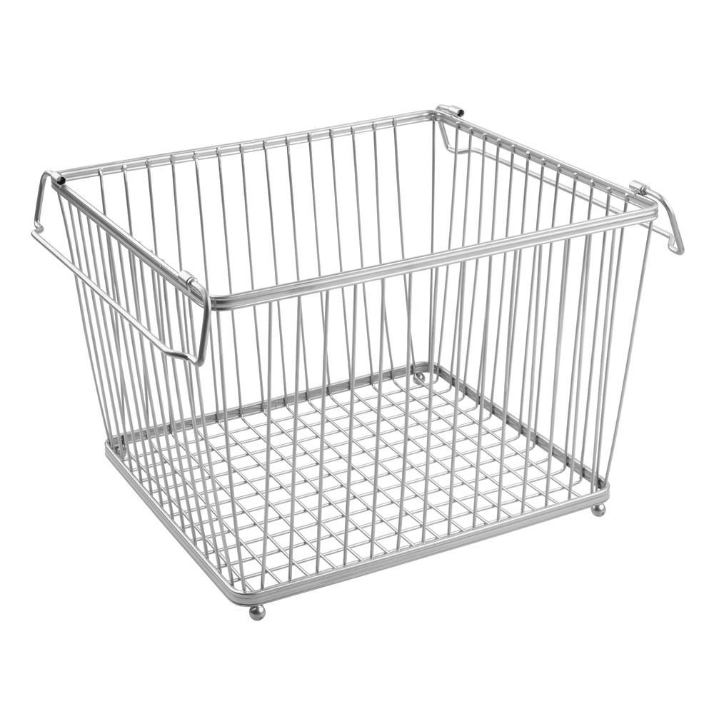 York Stackable Wire Pantry Basket - Chrome in Wire Baskets