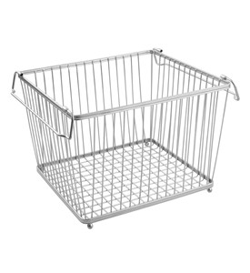 York Stackable Wire Pantry Basket - Chrome Image