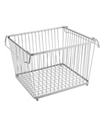 York Stackable Wire Pantry Basket - Chrome