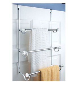 York Over Door Three-Tier Towel Rack Image