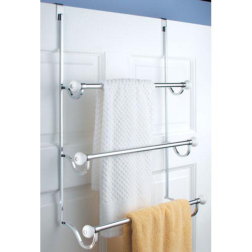 York Over Door Three Tier Towel Rack ...