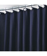 York Fabric Shower Curtain - Navy Blue