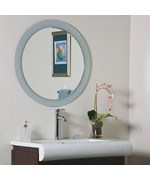 Zoe Round Wall Mirror by Decor Wonderland
