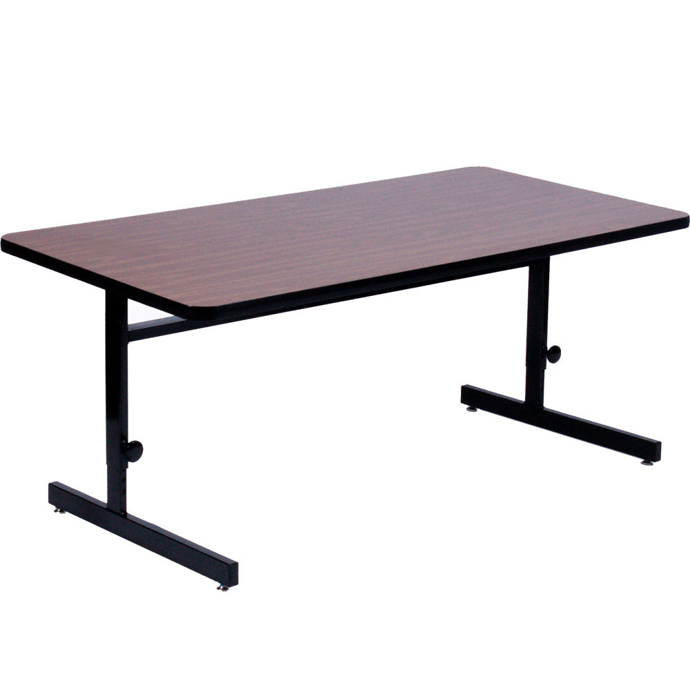 24 x 60 inch computer table adjustable height in desks and hutches. Black Bedroom Furniture Sets. Home Design Ideas