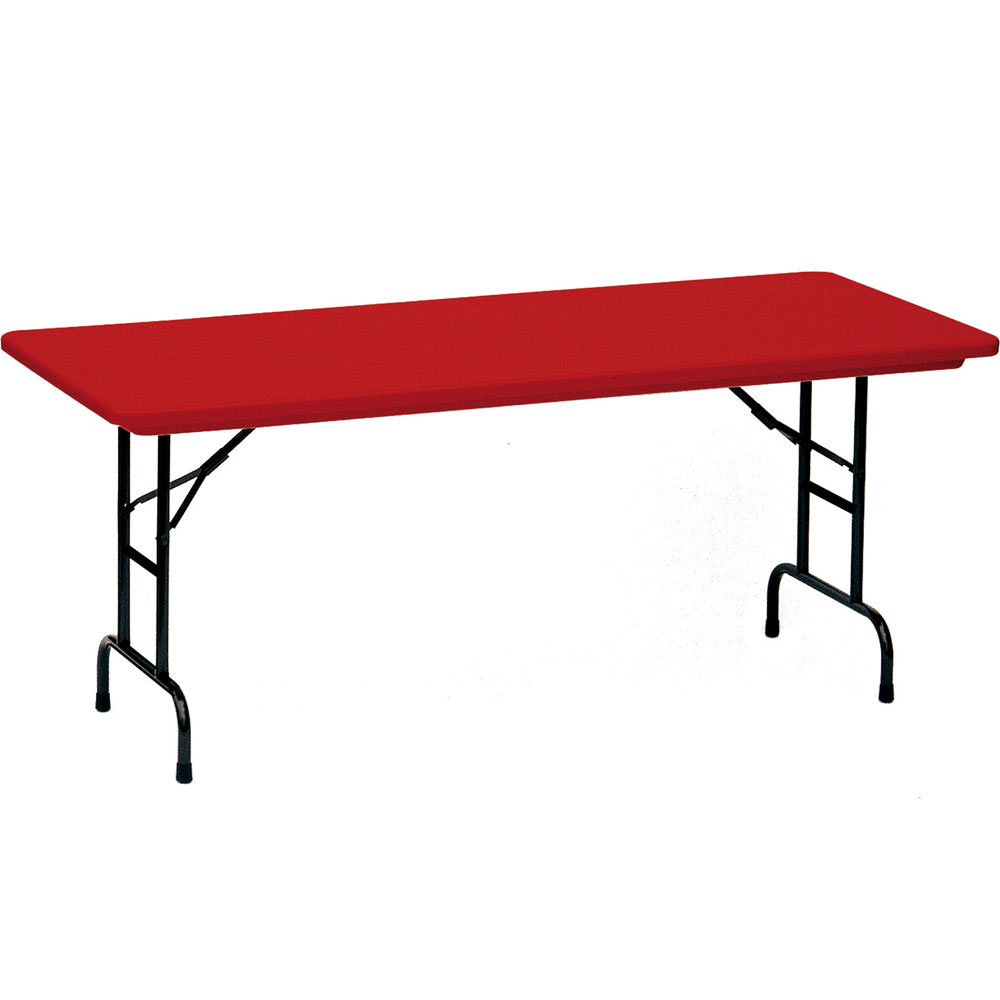 adjustable height folding table 30 x 72 inch in folding tables. Black Bedroom Furniture Sets. Home Design Ideas