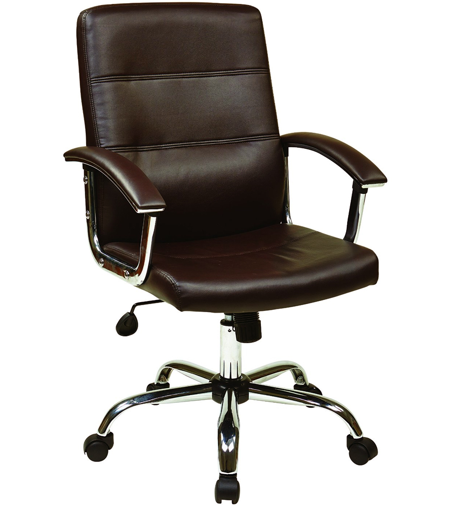 Faux leather office chair in office chairs for Home office chairs leather