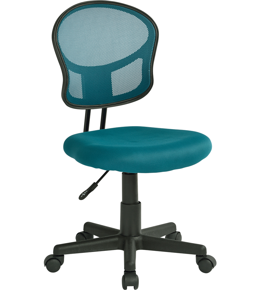 Mesh Rolling puter Chair in Armless fice Chairs